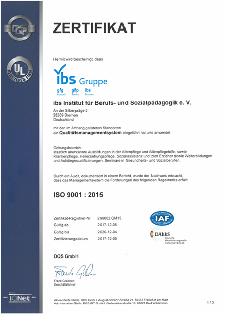 ISO 9001:2015 ibs gfg gfp