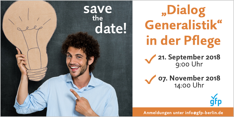Save the Date Dialog Generalistik gfp Berlin