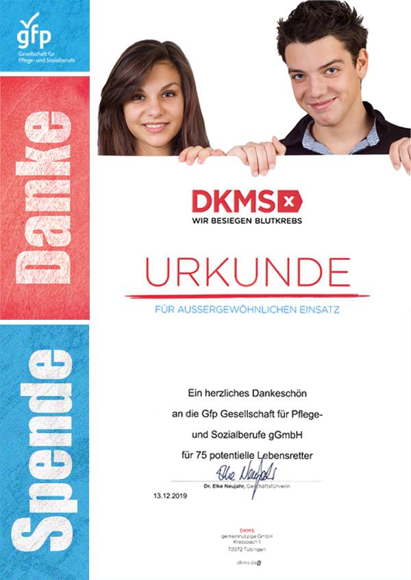 gfp Spendenaktion DKMS